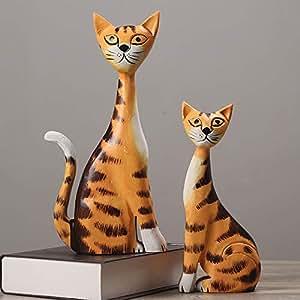 Escultura Figurilla Estatuas Moderno Minimalista Animal Pareja Gato Decoración Accesorios para El Hogar Sala De Estar Dormitorio Muebles De Escritorio ...