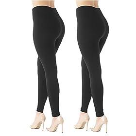 - 41GasZQNw0L - Premium Women's Fleece Lined Leggings – High Waist – Regular Plus Size – 20+ Colors
