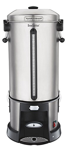 Hamilton Beach Commercial HCU110S  Brewstation Coffee URN110 Cup, Removable Tank, Speed Brewing, One Hand Dispensing, Stainless Steel by Hamilton Beach