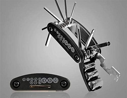 letuxiashop Bicycle multifunctional tool mountain bike multifunctional tool bicycle tool-Allen wrench 16 in 1 repair tool folding mountain bike repair tool