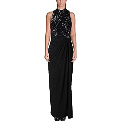 Lauren Ralph Lauren Womens Sequined Sleeveless Evening Dress