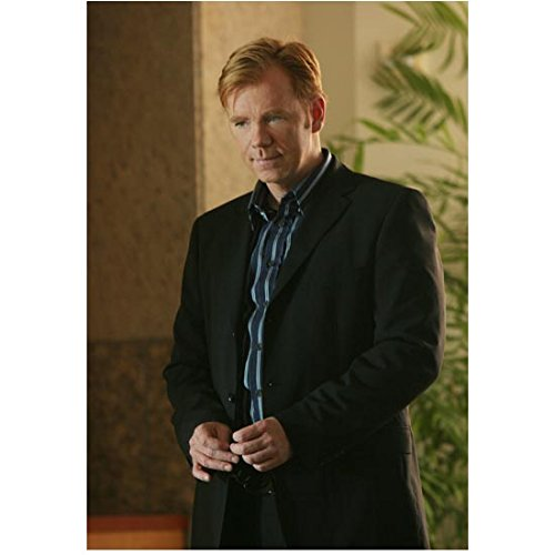 CSI: Miami David Caruso as Lt. Caine in black suit holding sunglasses 8 x 10 Inch Photo