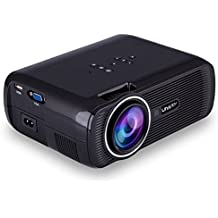 Pink Lizard UHAPPY U80 800x480 1080P HD LCD Mini LED Portable Projector Black / White US Plug
