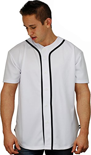 YoungLA Baseball Jersey T-Shirts Plain Button Down 303 White M