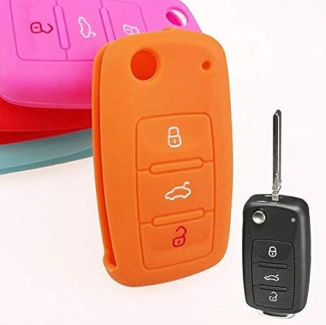 Amazon.com: Llavero de silicona con tapa para VW Golf Polo ...