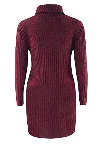 Maglie Alto Sweater Maglia Maglieria Collo Maglietta Donna Vestito Di Rosso Inverno Eleganti Irregolare Lana Abito Dolcevita Moda Maglione Autunno Turtleneck MK7yTK