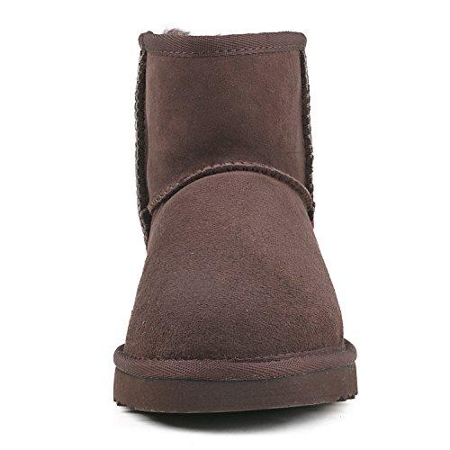 Ausland Womens Classic Short Sheepskin Snow Boot Chocolate 2 oqG4LT6V
