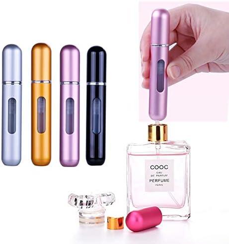 Mini Portable Atomiseur de parfum Bouteille vaporisateur de parfum de voyage rechargeable 8ml 6Pcs Bouteille Vaporisateur de Parfum