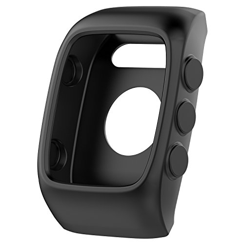 Awinner Case for Polar M400 M430,Shock-Proof and Shatter-Resistant Protective Band Cover Case for Polar M400 GPS Smart Sports Watch (Black)