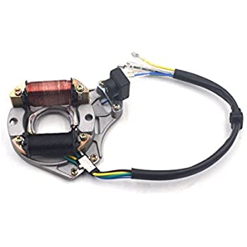 Amazon com: 2 Coil Ignition Stator Magneto Plate for 70cc