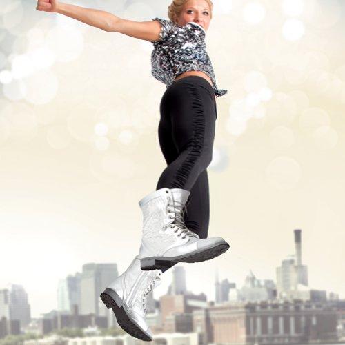 Gia Mia Dancewear Womens Sequin Combat Boot Zwart