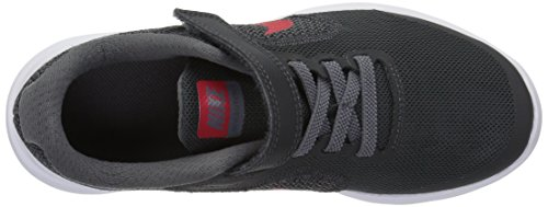 NIKE Kids' Revolution 3 (Psv) Running-Shoes, Black/University Red/Dark Grey, 1 M US Little Kid by Nike (Image #8)