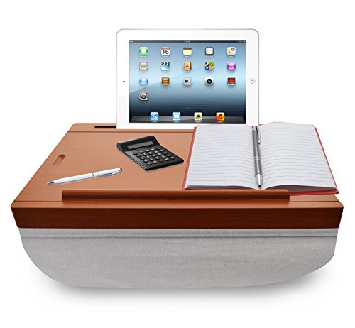 ICozy Portable Cushion Lap Desk With Storage Wood Look W / Light ...