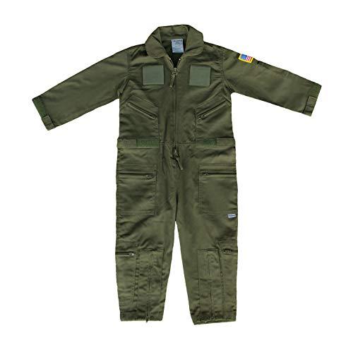 Trooper Clothing Flight Suit XX-Small (2T-4T) (OD Green) (XX-Small (2T-4T))