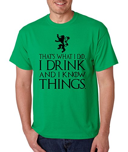 Allntrends Men's T Shirt That What I Do I Drink And I Know Things Tyrion Tee