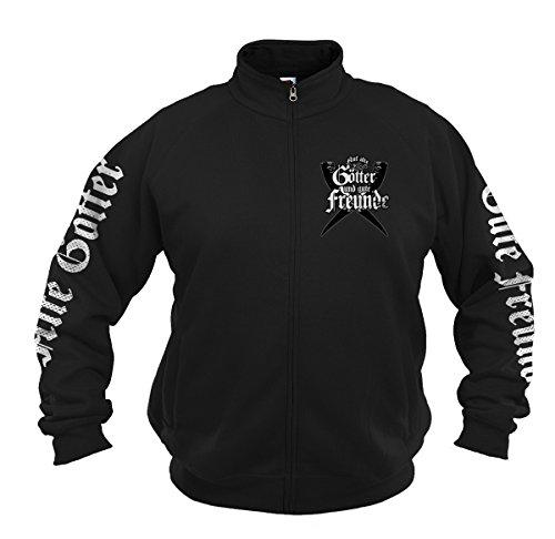 Negro Para Chaqueta Textil Hombre Deportiva Wotan wOHg4H