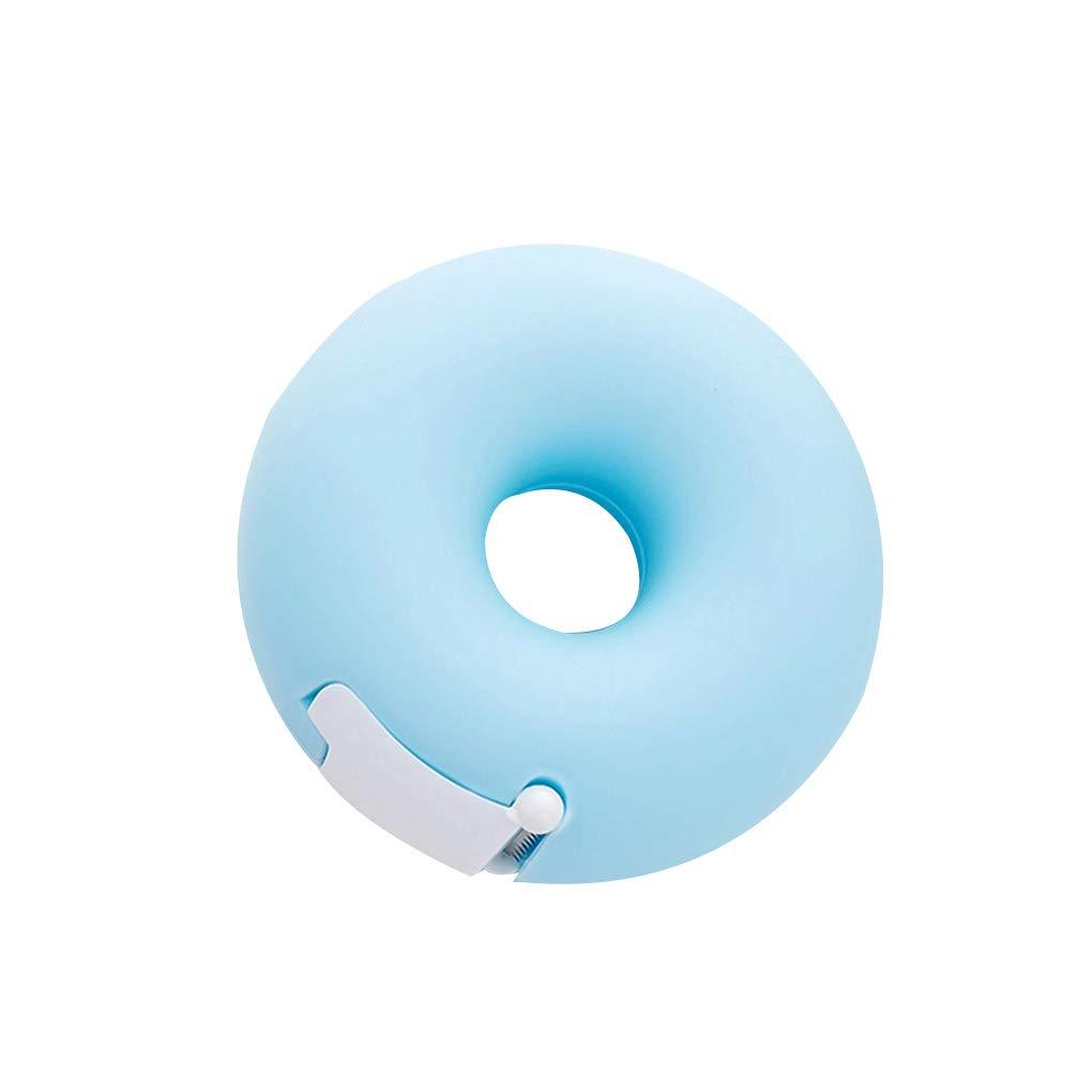 Minzhi Portable Lovely Doughnut/Heart Shape Tape Dispensers Cartoon Colorful Roll Tape Organizer