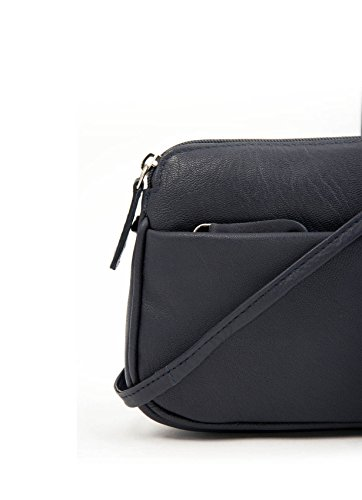 II Small Soft Rubi Bag Cross Curved Body Leather Navy Women's g8xqP5wS4