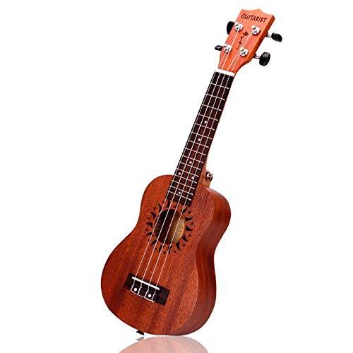 (Clearance Sale!DEESEE(TM)21 Inch Soprano Ukulele Sapele 15 Frets Musical Instrument Hawaiian)