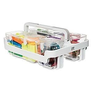 Deflecto Desk Supplies Organizer Caddy, Three Clear Compartments (29003)