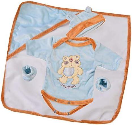 Sharplace 人形 ジャンプスーツ ハット ブランケット ソックス 16-17インチドール ドレスアップ 用品