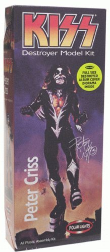 Playing Manits - 1998 - Polar Lights - KISS destroyer Model Kit - Peter Criss the Catman - All Plastic Assembly Kit - Full Size Destroyer Album Cover Diorama Inside - Out of Production - RARE - New -