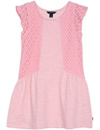 Nautica Girls' Stripe Slub Jersey Dress