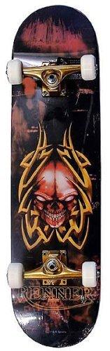 renner-complete-skateboard-b23-tribal-skull-by-skate-asylum