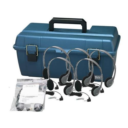 Personal Headset Lab Pack with Carry Case Headsets: 12, Ear Cushions: Foam, Volume Control: Included