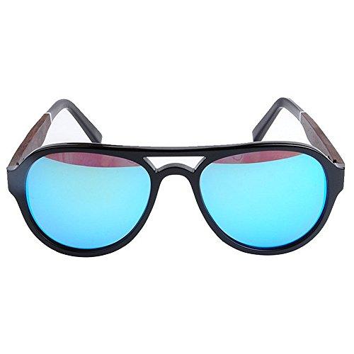 diseñador Tonos Sol de Blue Protección Yxsd SunglassesMAN Gafas Unisex Aviador Estilo Color Black Azules Lentes UV400 de Oq4Tv
