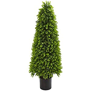 Nearly Natural 9140 4-Ft. Eucalyptus Topiary Artificial (Indoor/Outdoor) Silk Trees Green 103