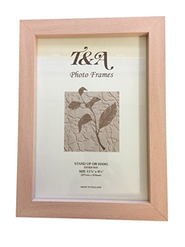 Beech Picture Frames, 12 X 10 , A4 , 8 X 6 , 10 X 8,Uk Made (A4 ...