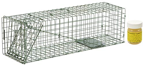 Door Trap Standard - Duke #2 Model 1105 Standard Single Door Cage Trap with Lenon Lure Muskrat Super All Call 1oz Included