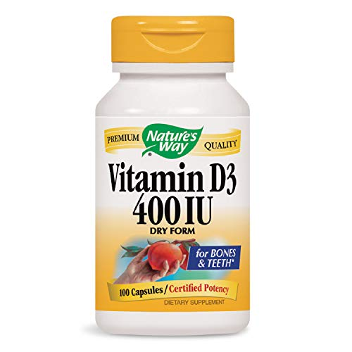 Nature's Way Dry Vitamin D 400 IU Caps, 100 ct ()