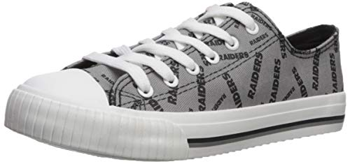 fda3bc15e9faee FOCO NFL Oakland Raiders Women s Low Top Repeat Print Canvas Footwear