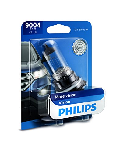 - Philips 9004 Vision Upgrade Headlight Bulb with up to 30% More Vision, 1 Pack