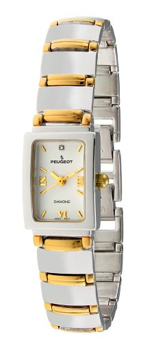 Peugeot Women's 787TT Two-Tone Genuine Diamond Bracelet Watch