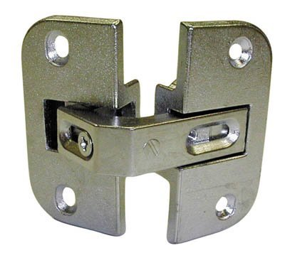 (Pie-Cut Corner Hinge, Nickel)