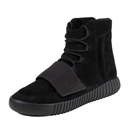 "adidas Mens Yeezy Boost 750"" Triple Black Black/Cblack Suede Size 10"