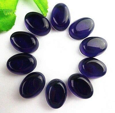 FidgetFidget 10pcs Light Purple Oval Hydrotherdal Crystal CAB cabochon 20x15x7mm -
