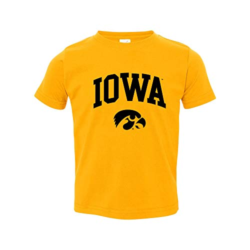 TS03 - Iowa Hawkeyes Arch Logo Toddler T Shirt - 5/6T - Gold