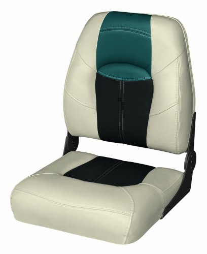 Wise 8WD1461 Blast-Off Tour Series Asiento de Barco Plegable con Respaldo Alto, Negro/Verde (Mushroom/Black/Green)