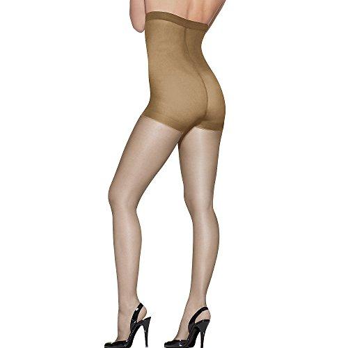 High Waist Pantyhose - Hanes Wome`s Set of 3 Silk Reflections Women`s High Waist Control Top EF, Little Color
