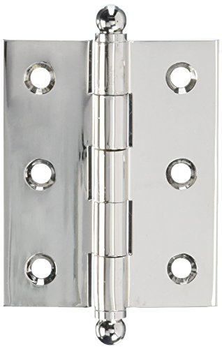 Cabinet Solid Brass Hinge - Deltana CH2520U14 Solid Brass 2-1/2-Inch x 2-Inch Cabinet Hinge with Ball Tips