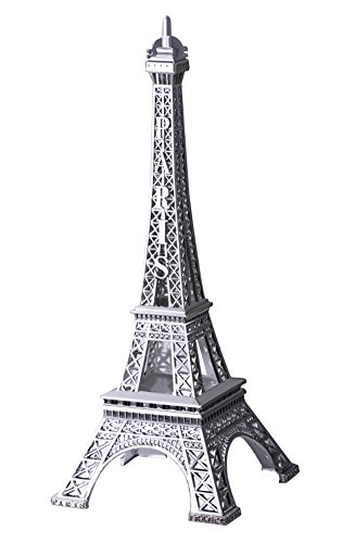 Cake Decor (JoyFamily Eiffel Tower Decor,7Inch (18cm) Metal Paris Eiffel Tower Statue Figurine Replica Drawing Room Table Decor Jewelry Stand Holder for Cake Topper,Gifts,Party And Home Decoration (Silver))
