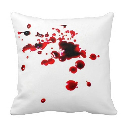 Blood splatter 2 creepy Halloween pillow Lpolouo