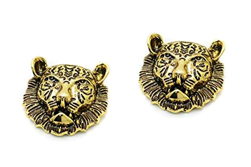 (Fodattm 2PCS Women Removable Vintage Shoe Clips Shoe Buckle Shoes Decoration Charms Shoes Clutch Dress Hat Shoes Clips (Lion head style - Retro)