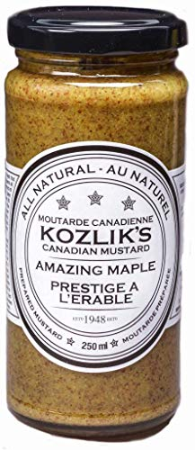 Kozliks Amazing Maple Sweet Brown Yellow Dijon Natural Gluten Free Non-GMO Mustard, 8.5oz (241gm) - 3 Pack (Dijon Mustard Gluten Free)