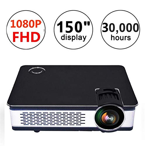 Portable Projector Home Theater Cinema Tv LCD Led Native 1080P Full Hd 4K Smart Projector,Black from LLVV Video Projectors