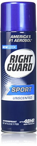 Right Guard Sport 3 D Odor Defense Antiperspirant and Deodorant Aerosol Spray Unisex Deodorant Spray, 6 Ounce
